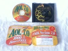 "2 AOL Version 7.0 RARE CDs Promo Tin Box & Leopard  ""1000 Hours FREE"""