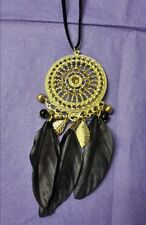 BOHEMIAN GIPSY HIPPY DREAM CATCHER FEATHER KItSch Quirky Tribal Fashion NECKLACE