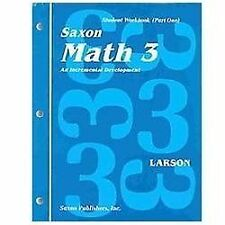 Saxon Math Grade 3 Student Workbooks and Fact Cards