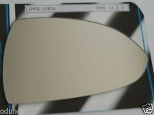 Convex Right Side Wing Mirror Glass for Opel Vauxhall Corsa D 2006-2011