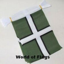DEVON CROSS FLAG BUNTING 9m 30 Fabric Party Flags English England County