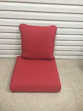 2 pc Frontgate Deep Seating Lounge Outdoor Patio Sofa Chair Cushions 24x22 NEW