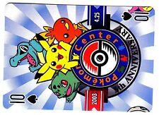 PROMO POKEMON JAPANESE CARD -CAJ DOS JAUNE- N° 10 - PIQUE - PIKACHU - CENTER 5th