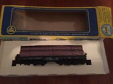 AHM -ho scale 16 Wheel NEW YORK CENTRAL 499043 FLAT CAR with Load Model Train