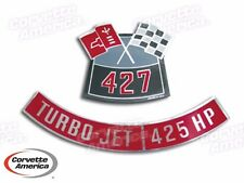 Chevy, Corvette Chevrolet  427/425 HP Air Cleaner Decal By Corvette America