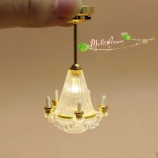 1:12 Dollhouse Miniaturescale Ceiling Candles  Light Lamp  LED Battery Operated