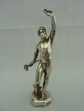 Vintage English sterling silver nude erotic male figure -Sheffield 1959 - 112g