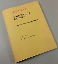 NEW HOLLAND SERVICE PARTS CATALOG MANUAL MODEL 855 ROUND BALER ISSUE 10-86