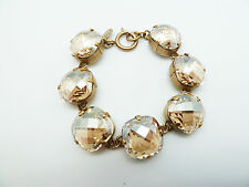 CATHERINE POPESCO LARGE STONE CHAMPAGE  ON GOLD TONE STUNNING BRACELET- NEW