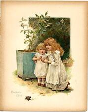 "HARRIET M BENNETT ""BOBBIE'S BIRD""  ORIGINAL 1897 ANTIQUE BOOK PRINT"