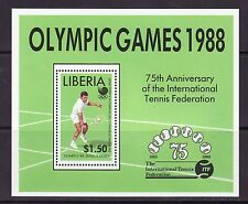 Liberia # 1096 MNH Souvenir Sheet  1988 Korea Olympics Sports Tennis
