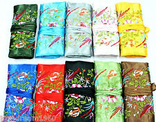 Wholesale 10 pcs Silk Brocade Travel Bag Jewelry Roll Pouch Purse Fashion Gift