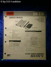 Sony Service Manual RM X1A CD Auto Charger Commander (#1092)