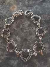 Brighton Bay Marcasite Look Heart Bracelet with Magnet Closure