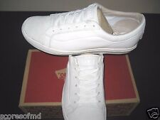 Vans Whitlock Mens Leather Suede skateboarding Shoes White size 9.5 New