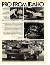1968 HEMI BARRACUDA PRO STOCKER / RON McDOWELL ~ ORIGINAL ARTICLE / AD