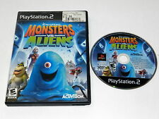 MONSTERS VS ALIENS Playstation 2 PS2 Game W/ CASE - TESTED