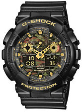 Casio G-Shock Herren Uhr GA-100CF-1A9ER Face-Camouflage Watch