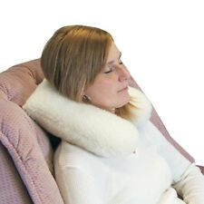 WOOL PILE NECK SUPPORT CUSHION TRAVEL NECK PILLOW DISABILITY AND MOBILITY AIDS