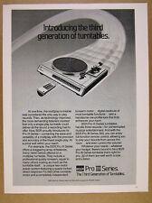 1981 BSR Pro III Series 300 Turntables vintage print Ad