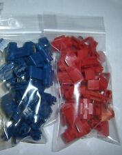 (40) Blue/Red Scotch Lock Wire Connector Terminal 22-18 16-14 AWG Ga Combo Pack