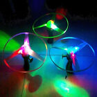 1pc Frisbees Boomerangs Flying Saucer Helicopter UFO Spin LED Light Outdoor Toy