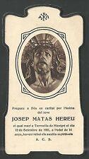 Estampa antigua Cristo de Limpias andachtsbild santino holy card santini