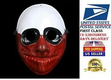 Crazy Genie Payday 2 Mask Replica Clown Resin Chains THE HEIST  WOLF Halloween