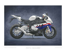 BMW S1000RR Limited Edition Motorcycle Print 20x16 in Art Poster by Steve Dunn