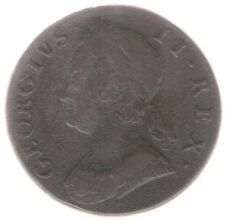 Great Britain Uk Coin 1/2 Penny 1746 Km 579.2 Vf