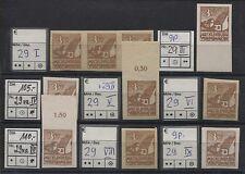 SBZ 29 großes Lot Plattenfehler I-IX (ohne II) 8 Werte postfrisch (B04656)