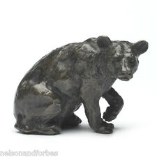 Solid Bronze Bear Sculpture Listening Bear by Sue Maclaurin