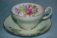 Gorgeous Vintage Foley bone china cup saucer set -Foley Tulip w/ Pink Roses
