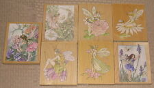 lot 7 STAMPS HAPPEN Iwood mounted rubber FLOWER FAIRIES NEW! fairy lavender rare