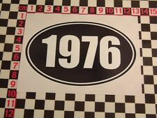 1976 Year Sticker - Morris MG Leyland Vauxhall Jaguar Land Rover Ford Birthday