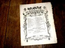 Il corricolo galop brillant pour piano à 4 mains 1870 Durand de Grau