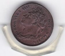 Attractive  1821   King  George  IV   Farthing  (1/4d)  British  Coin