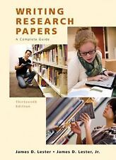 Writing Research Papers (Perfect) by James D. Lester and Jim D. Lester (2008,...