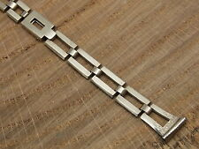 Vintage B&N 1/10th 14K white gold Ladies watch band bracelet for wire lugs