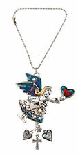 Ganz Car Rearview Mirror Charm 2 Sided Colored Angel with a heart EK3058