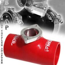 """Jdm Sport Type-S Turbo Blow Off Valve Bov 2.5"""" Reinforce Silicone Adapter Red"""