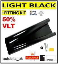 PRO ANTI-SCRATCH CAR WINDOW TINT FILM TINTING LIGHT BLACK  SMOKE 50% 76cm x 3M