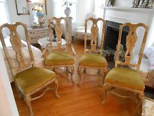 Set of 4 Vintage Drexel Heritage Hand Painted Chinoiserie Dining Room Chairs