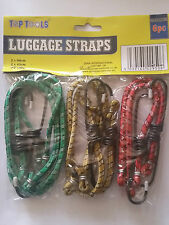 6 x Bungee Cord Elastic Luggage Straps Rope Hooks Stretch Tie Car Bike