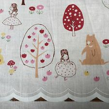 Kokka By Trefle Japanese Fabric, Premade Cafe Curtains, Woodland Fairytale Theme
