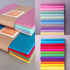 WOOL MIX FELT CRAFT PACK || Choice of Size & Colour - 12 pieces of felt per pack