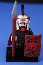 LEGO® Custom Deluxe ROMAN GENERAL +Black Crest, Shield, Spear, & Detailed Helmet