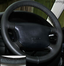 FOR SKODA FABIA I MK1 1999-2007 BLACK ITALIAN LEATHER STEERING WHEEL COVER