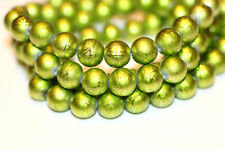 100pc Yellow Green Loose Beads- Glass Beads 1-3day Shipping