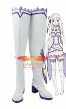 Re:Life in a Different World from Zero Emilia White Shoes Cosplay shoes
